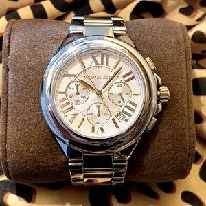 Michael Kors Two-Tone Gold and Silver Watch